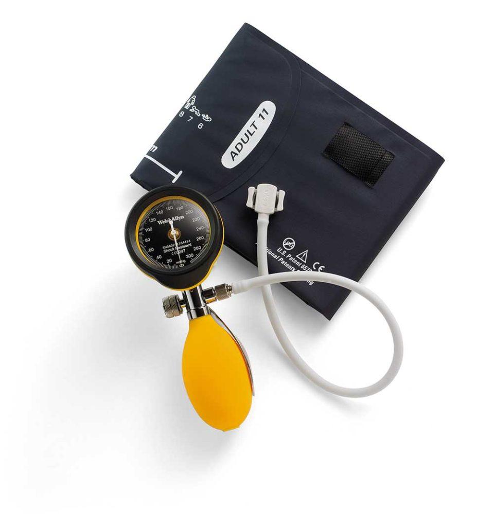 Тонометр DS55 (желтый) с манжетой Flexiport® многоразового использования для взрослых и футляром